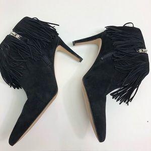 29c0b16f6d4bce Sam Edelman Shoes - SAM EDELMAN Sz 9 Boot Kandice Black Fringe Bootie